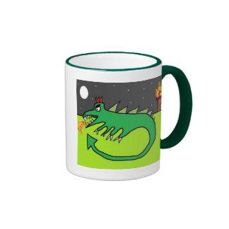 Fire Dragon Ringer Mug