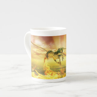 Fire Dragon Tea Cup Bone China Mug