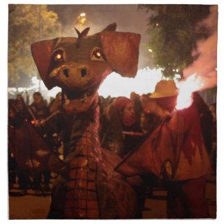 Fire Dragoon - Catalan Monster Printed Napkin