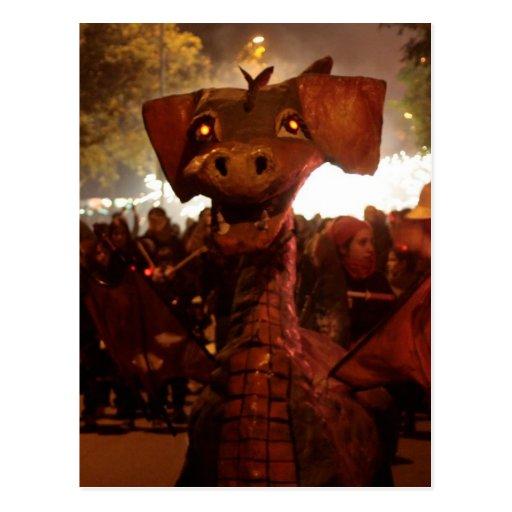 Fire Dragoon - Catalan Monster Postcards