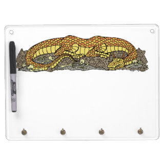 Fire Drake at Rest Dry Erase Board With Key Ring Holder