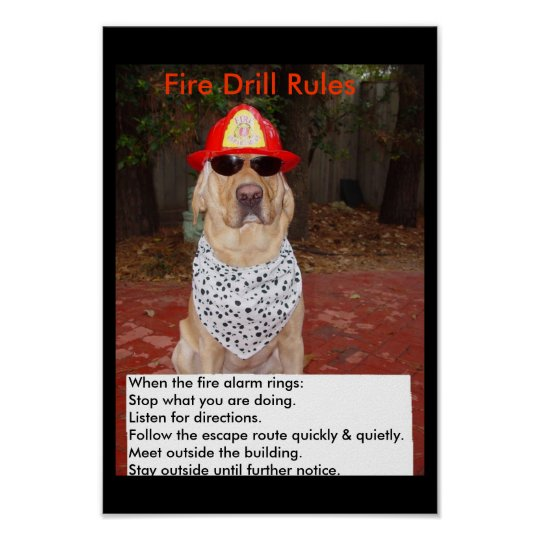 Fire Drill Poster