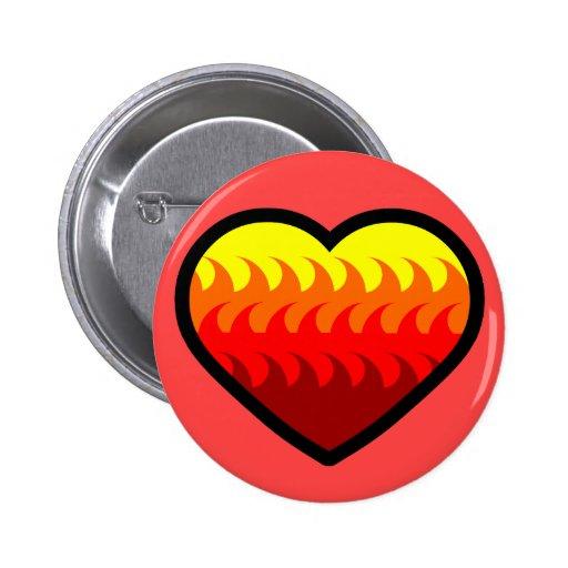 Fire Element Heart Pin