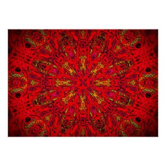 FIRE Element Kaleido Pattern poster