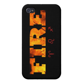 Fire Element with Zodiac Signs iPhone 4 Cases