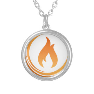 Fire Elements Silver Plated Necklace