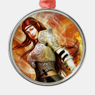 Fire Elf Metal Ornament