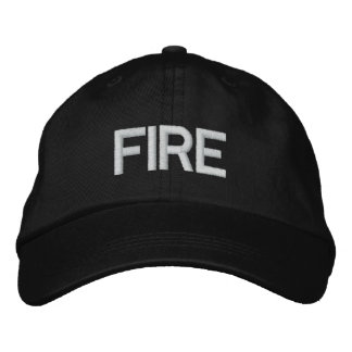 FIRE EMBROIDERED HAT