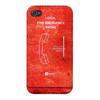 Fire emergency phone iPhone 4/4S covers