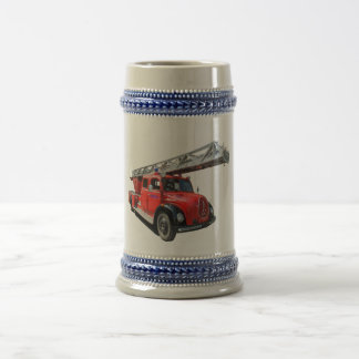 Fire engine beer stein