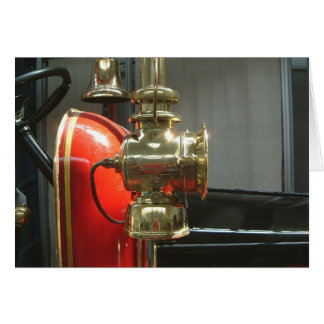 fire engine brass light card