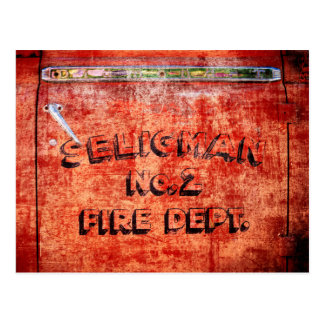 Fire Engine Door Postcard