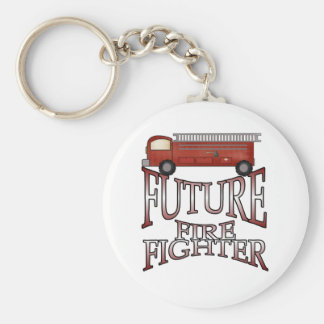 Fire Engine Future Firefighter Basic Round Button Key Ring