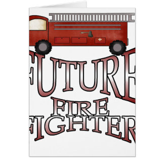 Fire Engine Future Firefighter Card
