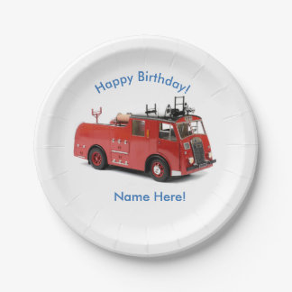 Fire Engine image for Custom Paper Plates 7 Inch Paper Plate