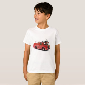 Fire Engine image for Kids' T-Shirt-White T-Shirt