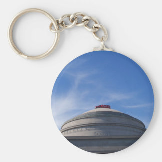Fire Engine on top of building Key Chain