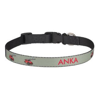 Fire engine pet collar
