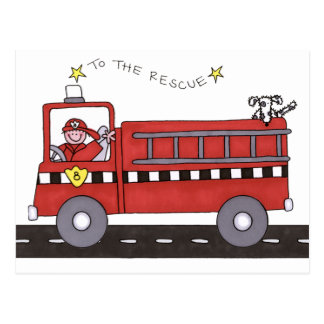 Fire Engine Postcard
