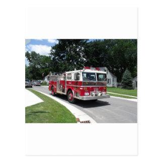 fire engine postcard