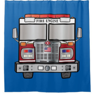 Fire Engine Shower Curtain