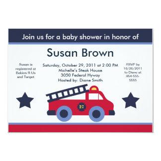 "Fire Engine/Truck Baby Shower Invitation 5"" X 7"" Invitation Card"