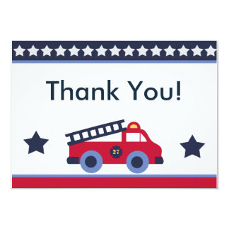 Fire Engine/Truck Thank You Cards Custom Invitations