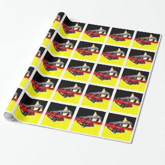 Fire engine wrapping paper