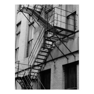 Fire Escape, Urban Architecture Poster