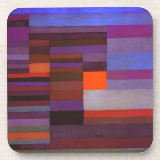 Fire evening by Paul Klee Drink Coasters
