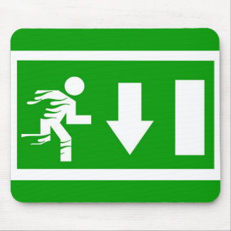 fire exit mouse pad