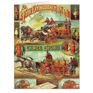 Fire Extinguisher Ad 1880 Big Greeting Card