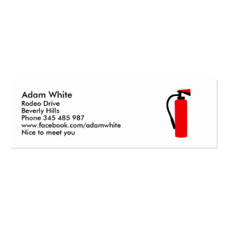 Fire extinguisher business card template
