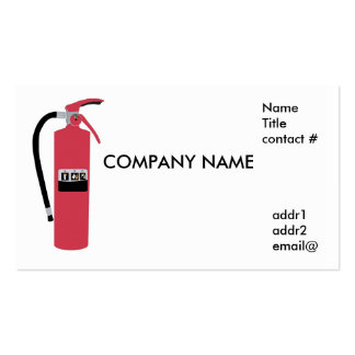 fire extinguisher business card templates