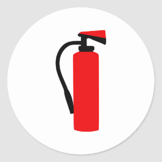 Fire extinguisher classic round sticker