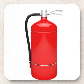 Fire extinguisher coaster