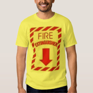 fire extinguisher - Customized Tee Shirt