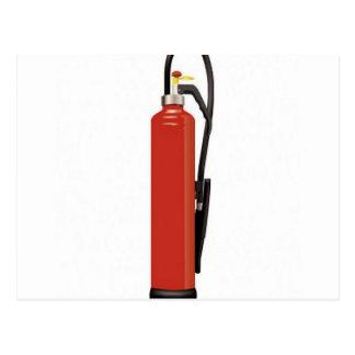 Fire extinguisher design postcard