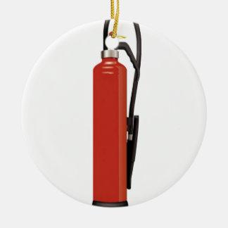 Fire extinguisher design round ceramic decoration