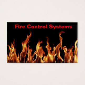 Fire extinguisher fire alarm system Business Card