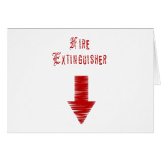 Fire Extinguisher Greeting Card
