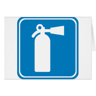 Fire Extinguisher Highway Sign Greeting Card