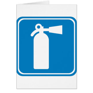 Fire Extinguisher Highway Sign Card
