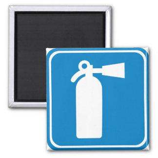 Fire Extinguisher Highway Sign Fridge Magnet