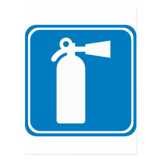 Fire Extinguisher Highway Sign Post Card