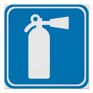 Fire Extinguisher Highway Sign Posters