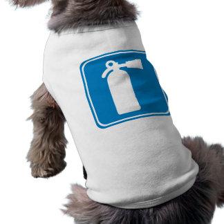 Fire Extinguisher Highway Sign Sleeveless Dog Shirt