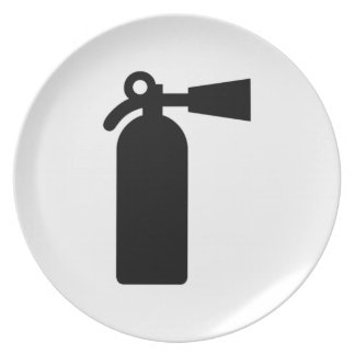 Fire Extinguisher Party Plate