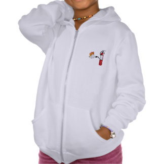 Fire Extinguisher Putting Out Fire Girls Hoodie