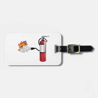 Fire Extinguisher Putting Out Fire Luggage Tags